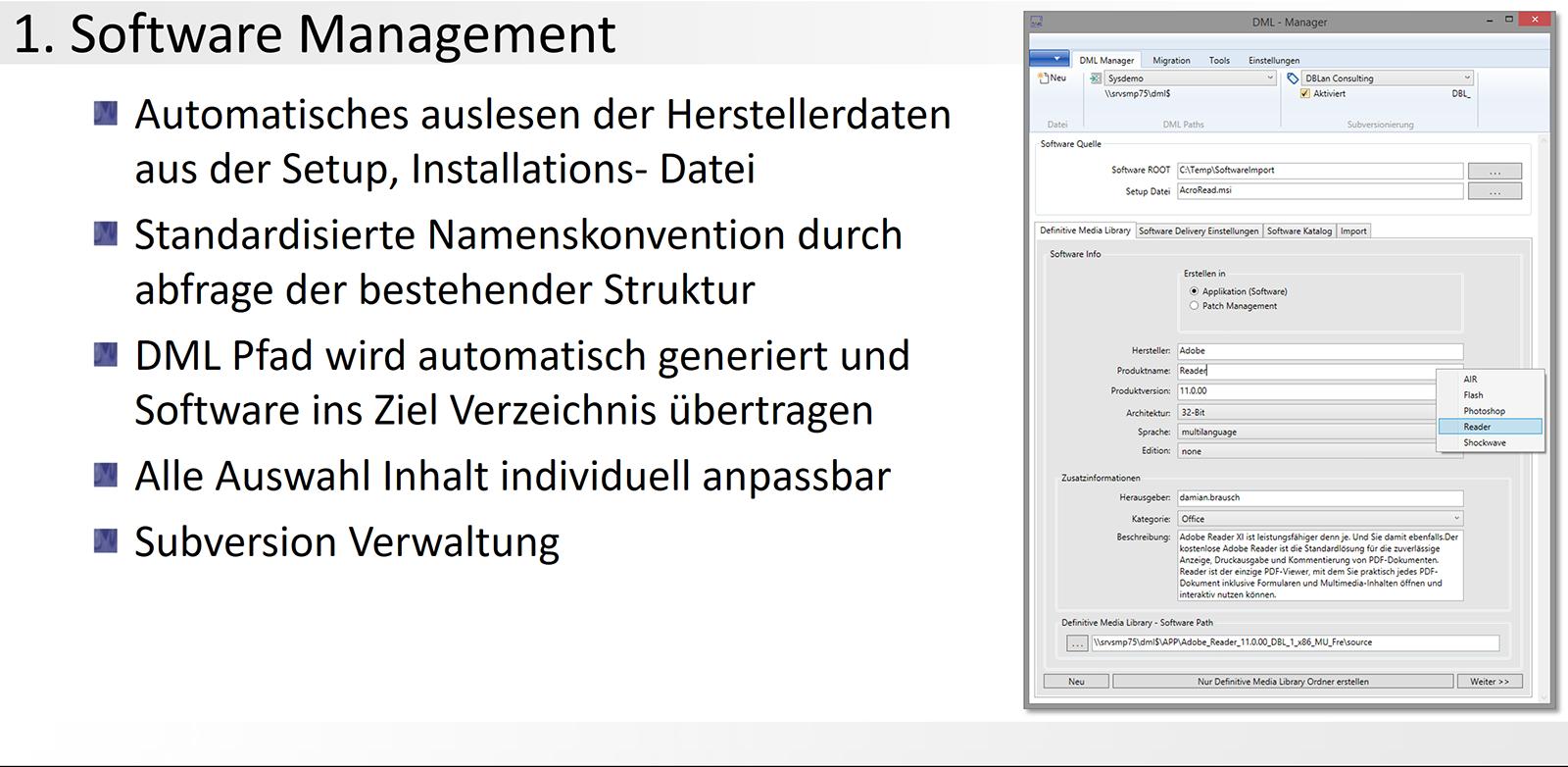 1. DML-Manager - Software Management