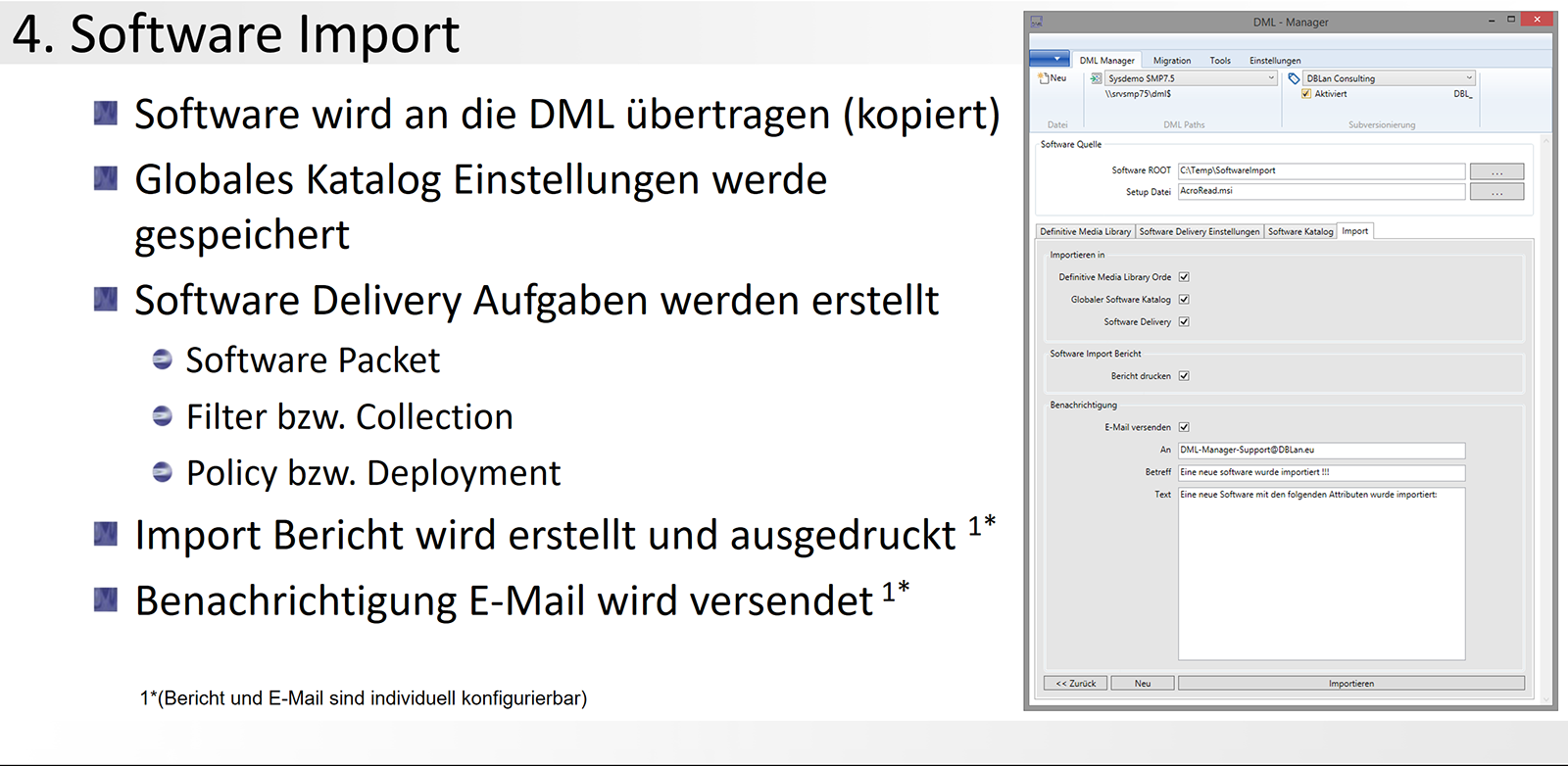 4. DML-Manager - Software Import